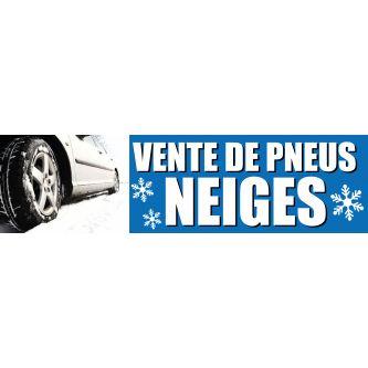 Visuel de banderole vente de pneus neiges 3 x 0.8 m