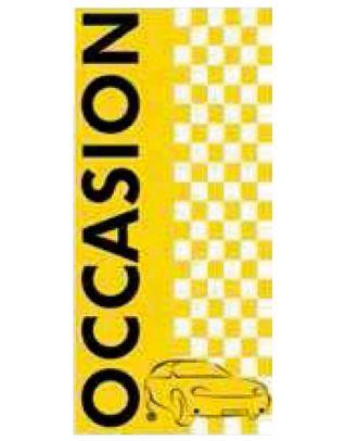 Drapeau Occasion 2 à damiers jaune et noire
