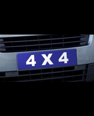 Cache plaque d'immatriculation avantage 4x4 bleu