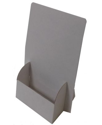 Présentoir A4 carton CARTNA4 vierge de côté gauche
