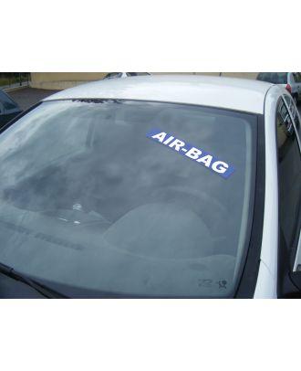 Autocollant pare brise bleu air bag