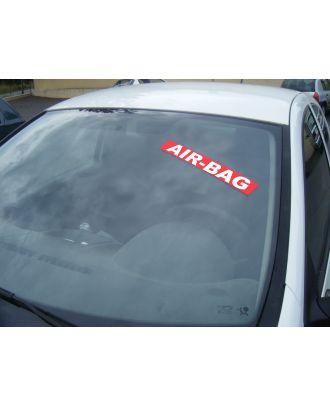 Autocollant Pare Brise Avantage rouge Air bag