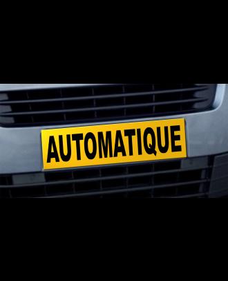 Cache plaque d'immatriculation avantage Automatique jaune et noir