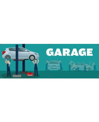 Banderole garage PVC