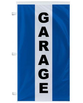 Bannière Garage bleu à bandes latérales