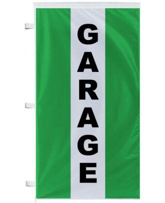 drapeau garage à bandes latérales vertes