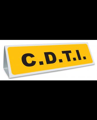 Triangle magnétique de toit CDTI jaune et noir