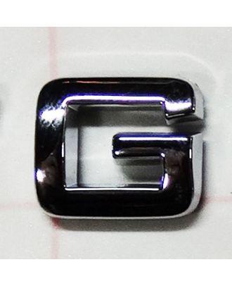 Lettre adhésive chromée G