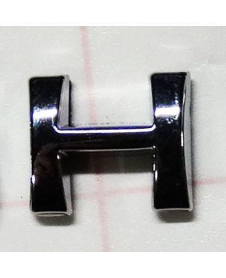 Lettre adhésive chromée H