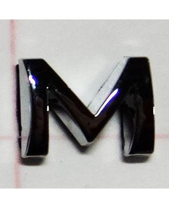 Lettre adhésive chromée M