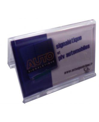 Porte carte de visite plexiglas 85 x 54 mm ASK76