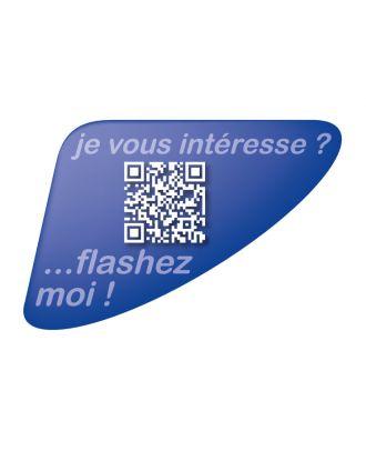 Autocollant QR Code Annonce Automobile personnalisé bleu