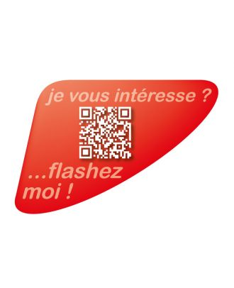 Autocollant QR Code Annonce Automobile personnalisé rouge
