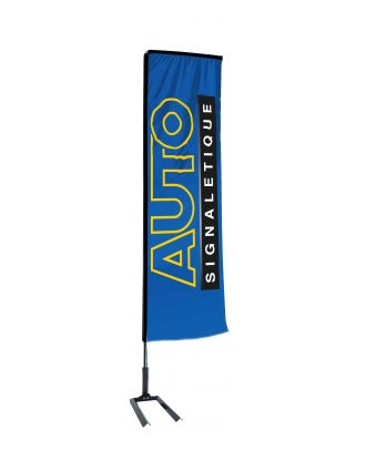 Kit mât Salta 3.40 m avec voile 2.50 m personnalisée et pied autocal