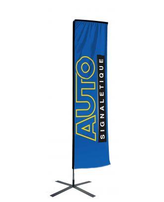 Kit mât Salta 4.50 m avec voile 3.70 m personnalisée et pied croisillon