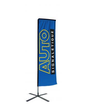 Kit mât Salta 3.40 m avec voile 2.50 m personnalisée et pied croisillon
