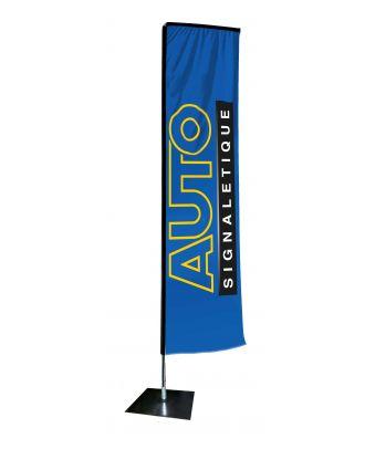 Kit mât Salta 4.50 m avec voile 3.70 m personnalisée et pied platine