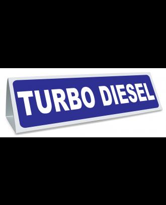 Triangle magnétique de toit Turbodiesel coloris bleu